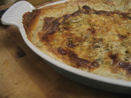 Potato Gratin with Caramelized Fennel and Leek