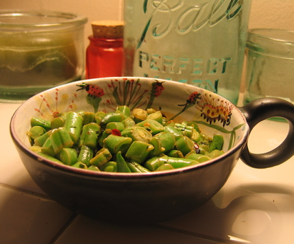 Spicy Green Beans with Cilantro and Lime