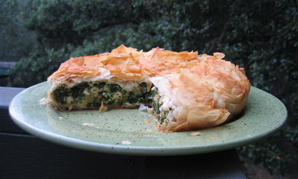 Lamb's Quarter Filo Pie