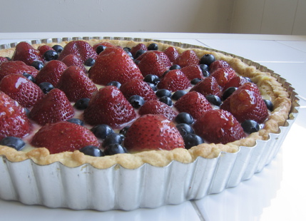 Strawberry and Blueberry Tart with Lemon Curd