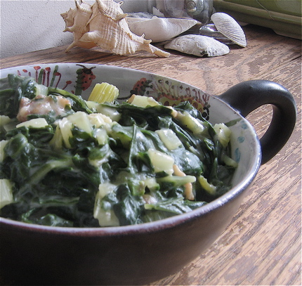 Creamed Swiss Chard