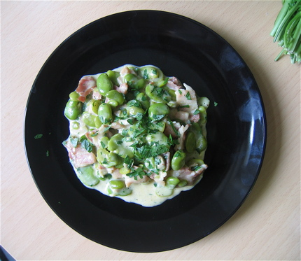 Creamed Fava Beans with Bacon (Fèves au Lard Fumé)