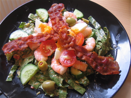 Shrimp Louis Salad with Homemade Thousand Island