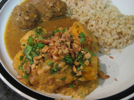 Spicy Pumpkin and Peanut Curry